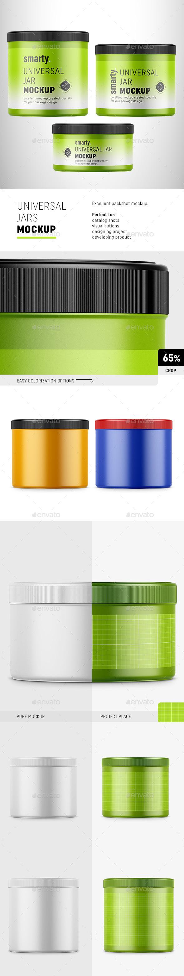 Plastic Jars Mockup - Miscellaneous Packaging