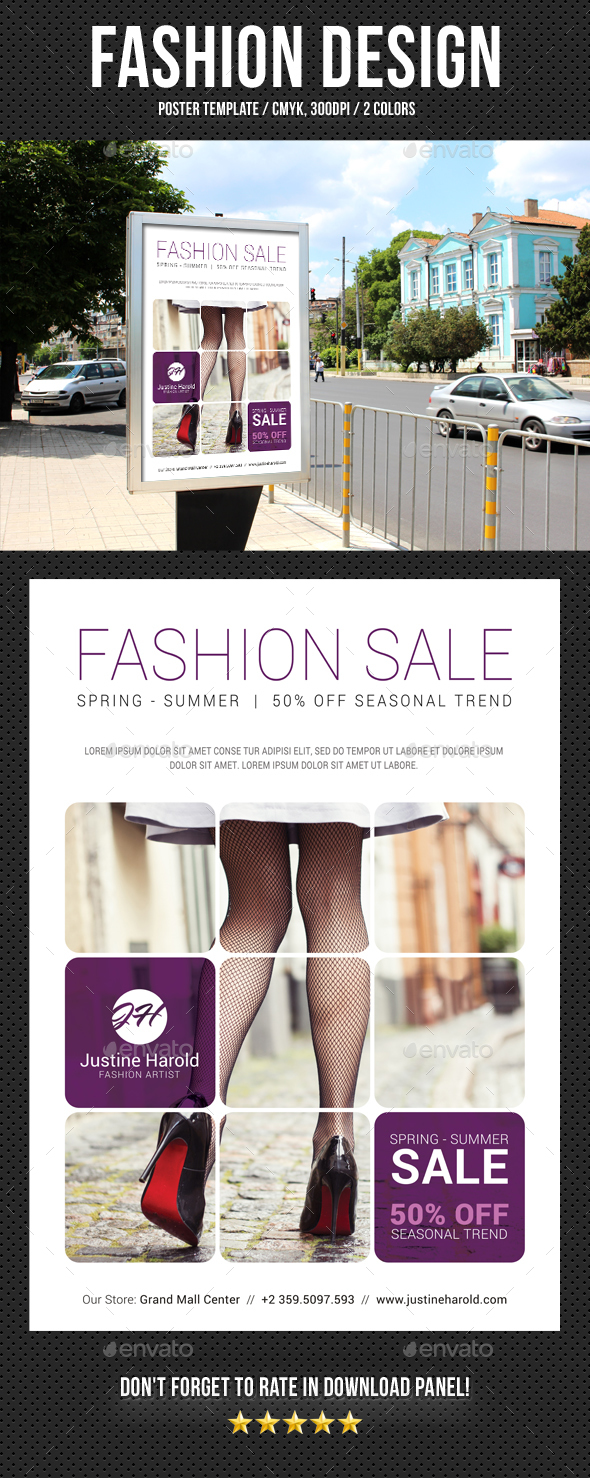 Fashion Poster 07 - Signage Print Templates
