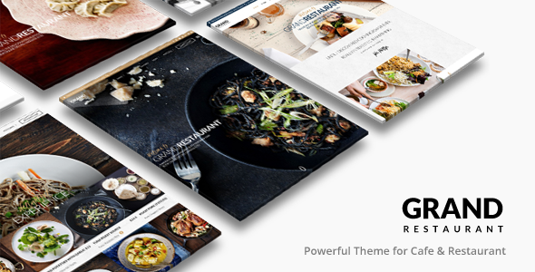 Grand Restaurant | Restaurant Cafe Theme - Restaurants & Cafes Entertainment