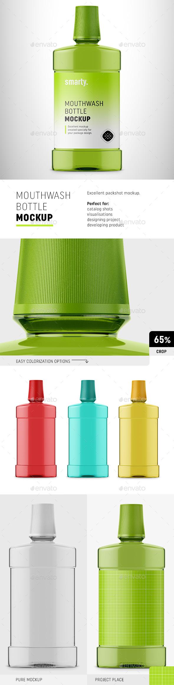 Mouthwash Bottle Mockup - Miscellaneous Packaging