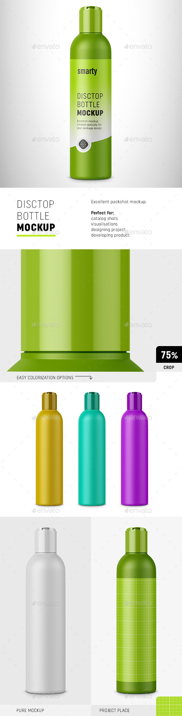 Cosmetic Bottle with Disctop - Beauty Packaging