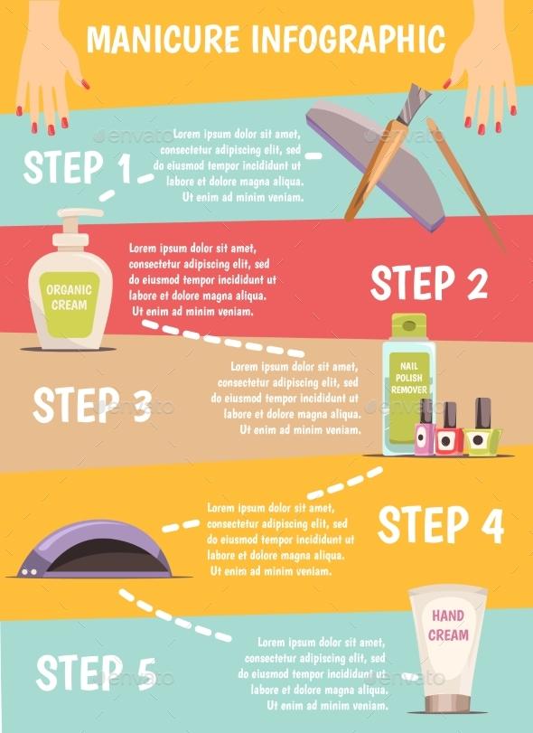 Manicure Infographic Set - Objects Vectors