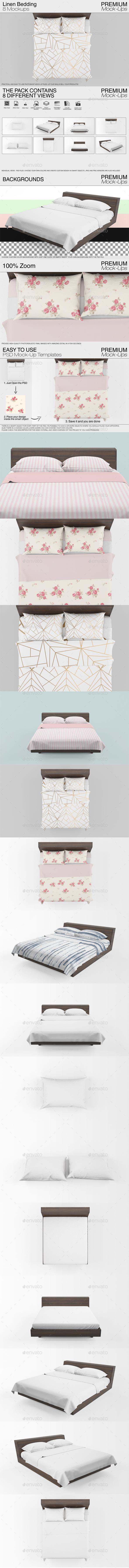 GraphicRiver Linen Bedding Mockup 20238603