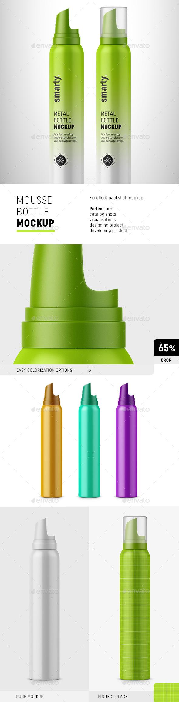 Mousse Bottle Mockup - Beauty Packaging
