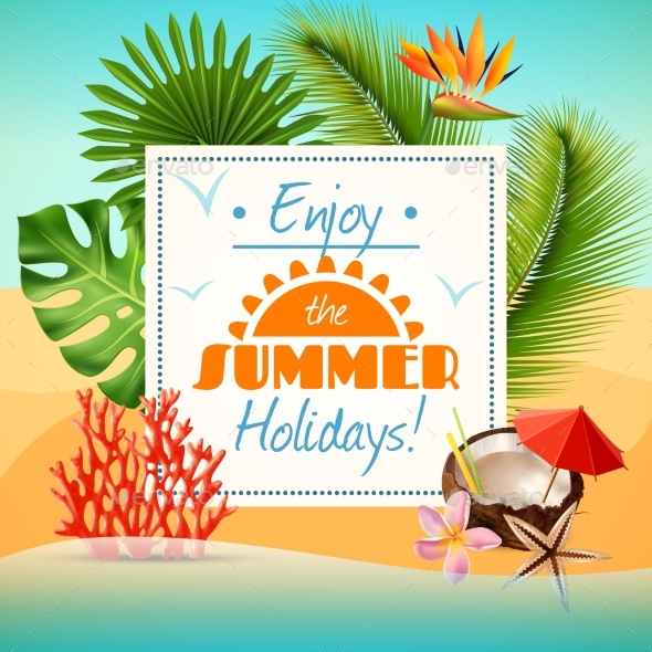 Summer Party Poster - Backgrounds Decorative