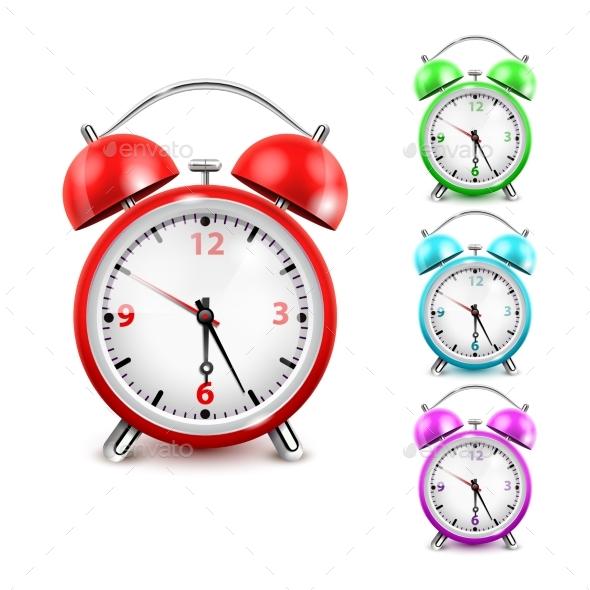GraphicRiver Alarm Clock Icon Set 20238840