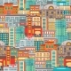 Flat Cityscape Seamless Pattern - GraphicRiver Item for Sale