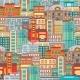 Flat Cityscape Seamless Pattern
