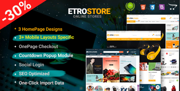 EtroStore - Premium Multipurpose Digital OpenCart Theme