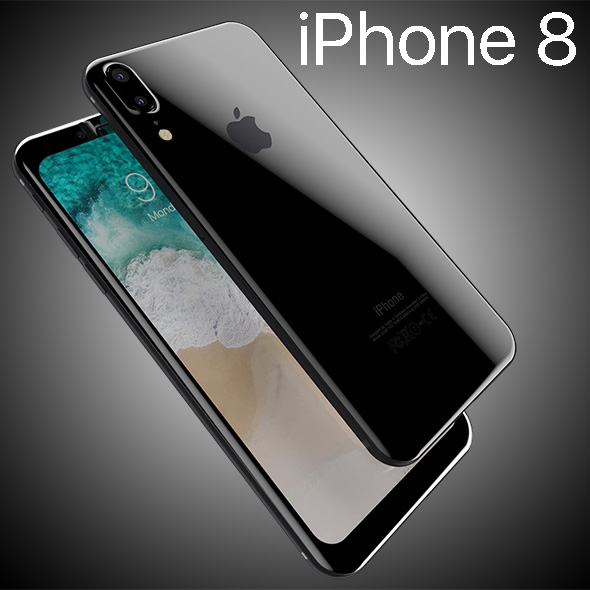 Apple iPhone8 2017 Rounded edges Leak All Colors - 3DOcean Item for Sale