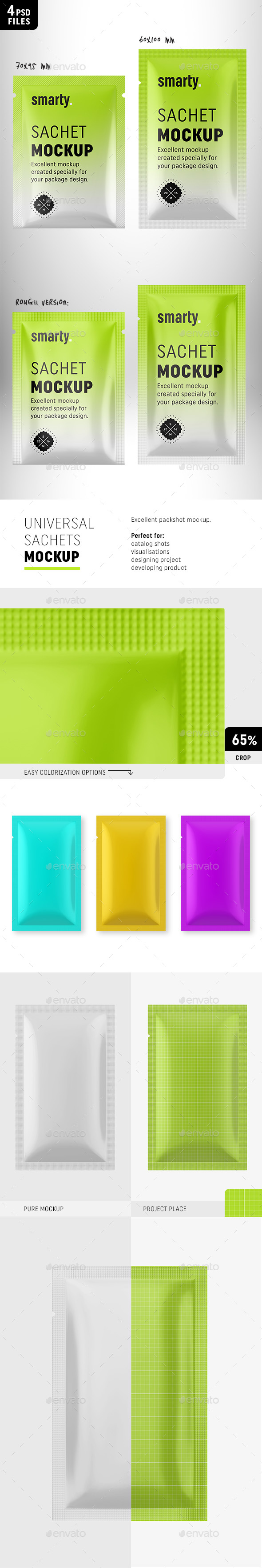 Sachet Mockups Collection - Packaging Product Mock-Ups