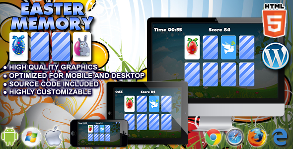 Download Sourcode              Easter Memory - HTML5 Memory Game nulled version
