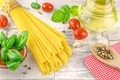 Italian spaghetti pasta and fresh ingredients - PhotoDune Item for Sale