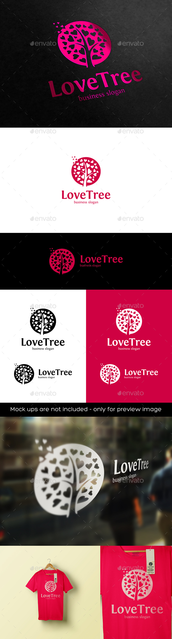 Love Tree Logo - Nature Logo Templates