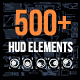 Set of Futuristic HUD Elements - GraphicRiver Item for Sale