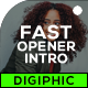 Fast Dynamic Opener Intro - VideoHive Item for Sale