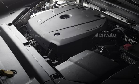 Car engine close-up details - Stock Photo - Images