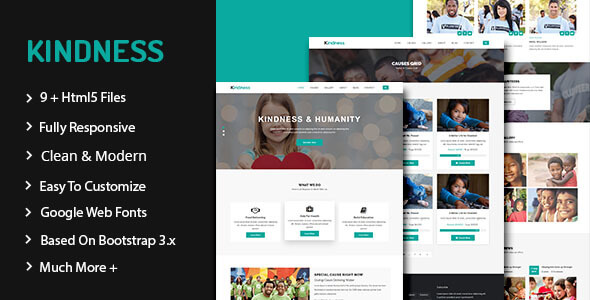Kindness - Nonprofit, Crowdfunding & Charity HTML5 Template