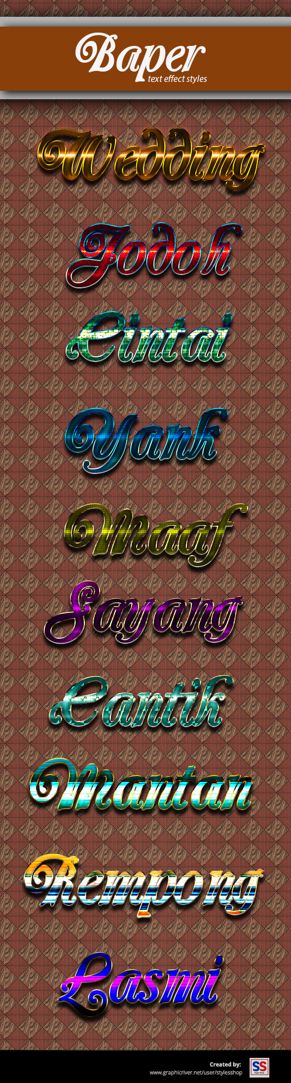 Baper Text Effec - Text Effects Styles