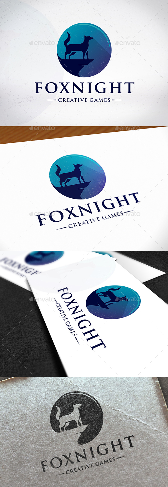 Fox Night Creative Logo - Animals Logo Templates