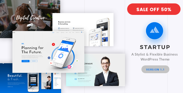 Download StartUp - Responsive Multi-Purpose WordPress Theme