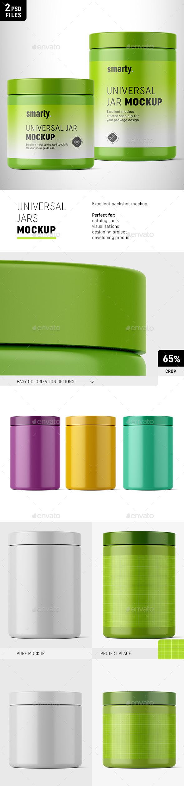 Universal Plastic Jar Mockups - Packaging Product Mock-Ups