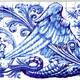 Blue Dragon Azulejo Ceramic Tile Magnet Souvenir Realistic Vector - GraphicRiver Item for Sale