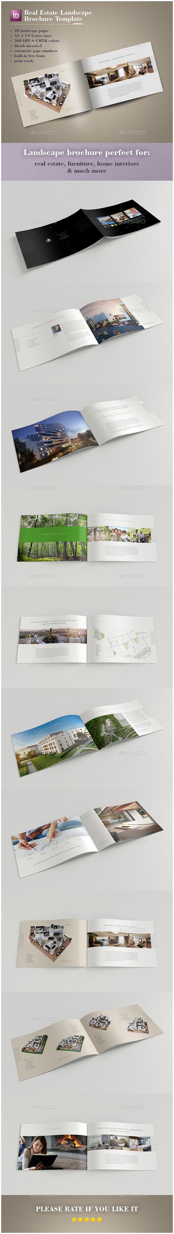 Real Estate Landscape Brochure - Catalogs Brochures
