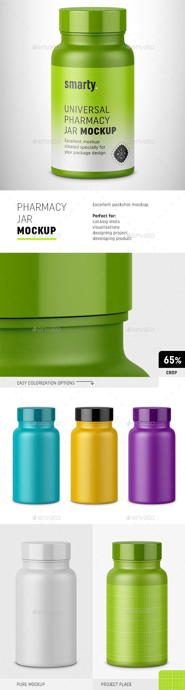 Plastic Jar Mockup - Packaging Product Mock-Ups