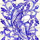 Blue Oak Fairy Azulejo Ceramic Tile Magnet Souvenir Vector - GraphicRiver Item for Sale