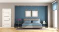 Blue and brown modern bedroom - PhotoDune Item for Sale