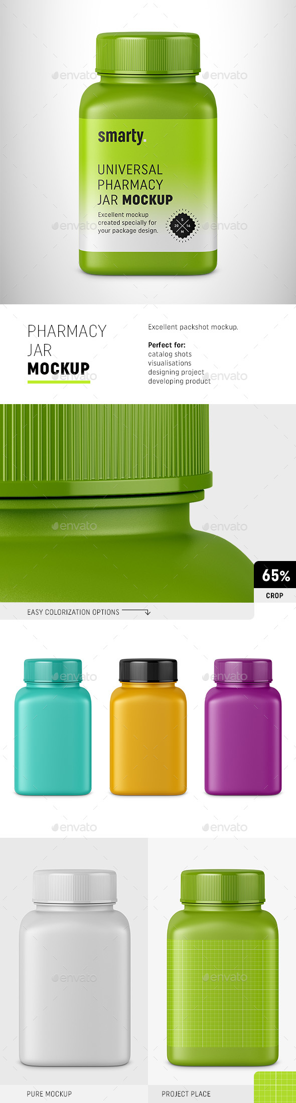 Pharmacy Jar Mockup - Packaging Product Mock-Ups