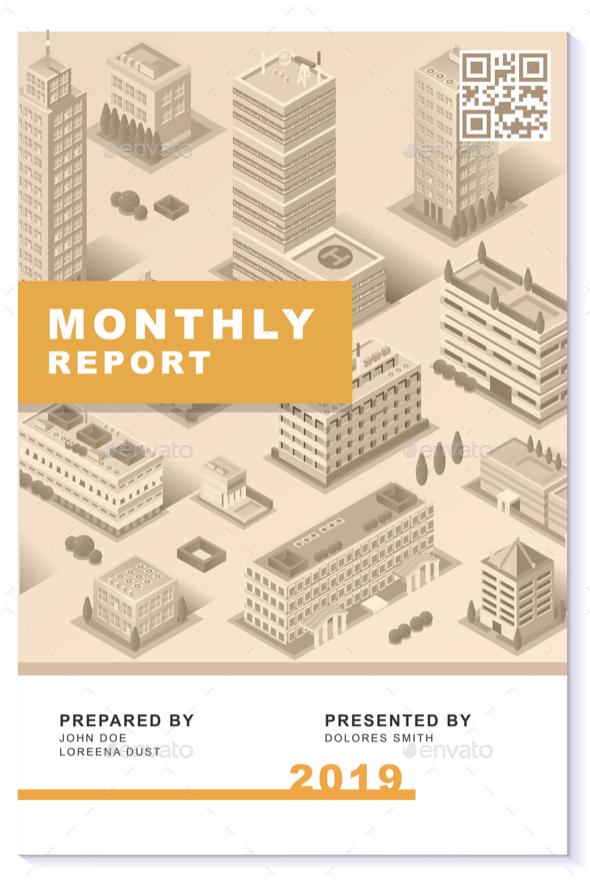 Business Proposal Newsletter Report Modern Design Vector Template - Vectors
