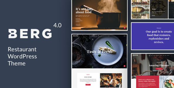 BERG - Restaurant WordPress Theme - Restaurants & Cafes Entertainment