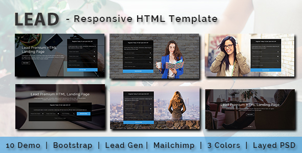 LEAD - Multipurpose Responsive HTML Landing Page - Business Corporate