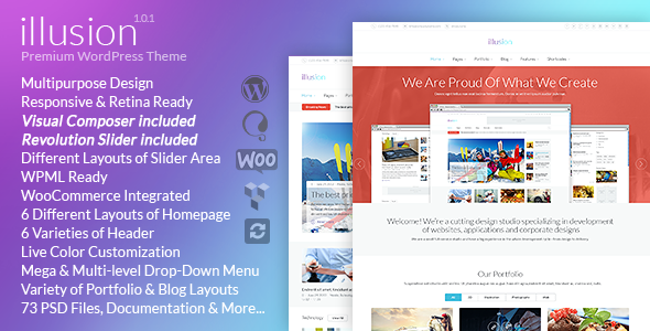 illusion – Multipurpose Corporate and Woocommerce Theme nulled