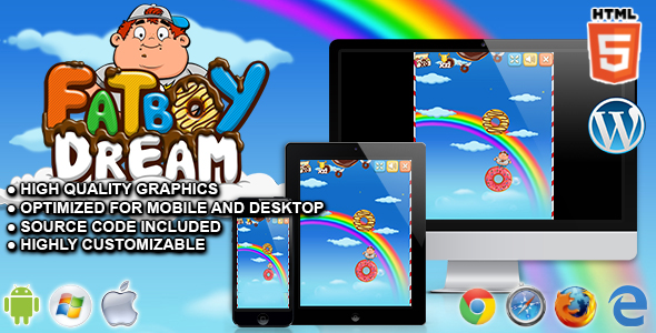 FatBoy Dream - HTML5 Skill Game - CodeCanyon Item for Sale