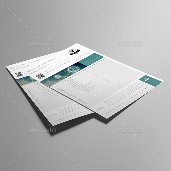New Hire Checklist Template By Keboto  Graphicriver