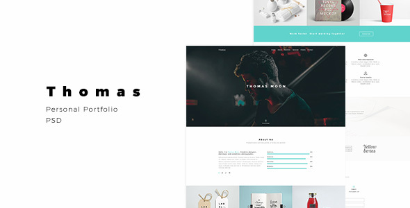Download Free Thomas – Personal Portfolio