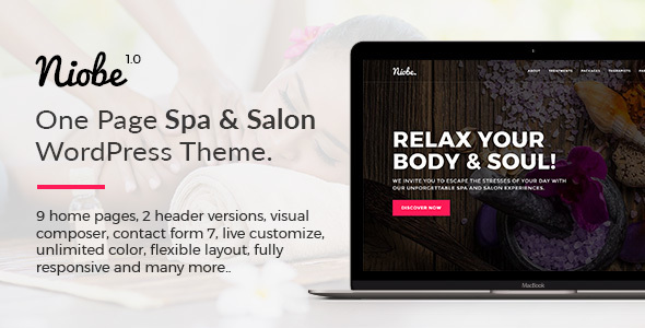 Niobe – Spa & Salon WordPress Theme (Health & Beauty) images