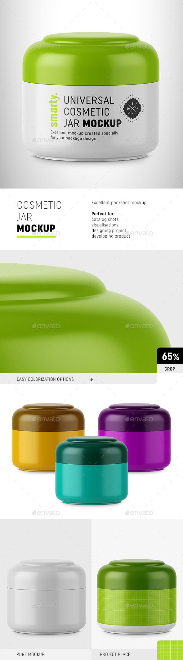 Cosmetic Jar Mockup - Beauty Packaging