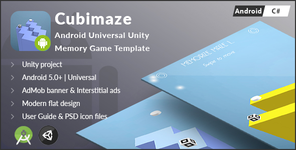 Cubimaze | Android Universal Unity 3D Memory Game Template (C#)