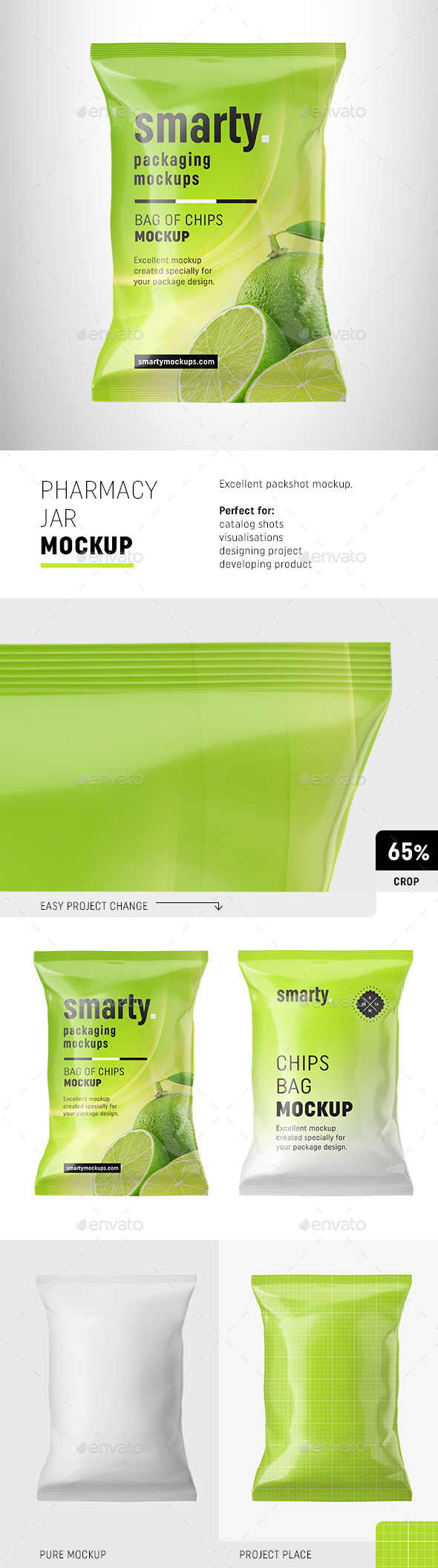 Chips Bag Mockup - Food and Drink Packaging