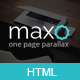 Maxo - One Page Parallax Nulled
