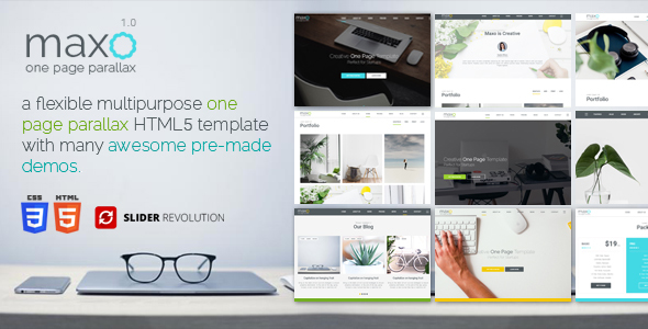 Download Maxo - One Page Parallax