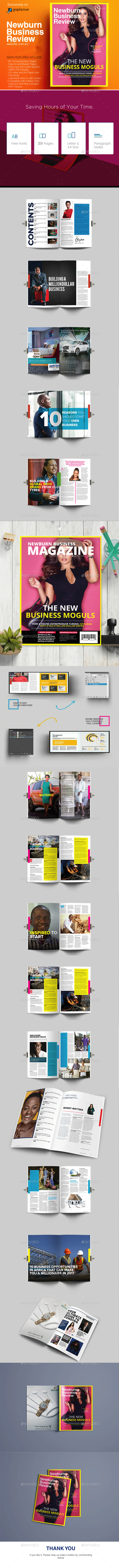 Newburn Business Review Magazine Design Template - Magazines Print Templates