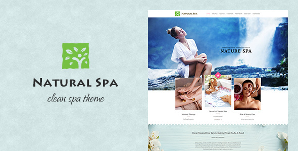 All-natural Spa Responsive WP Theme (Retail)