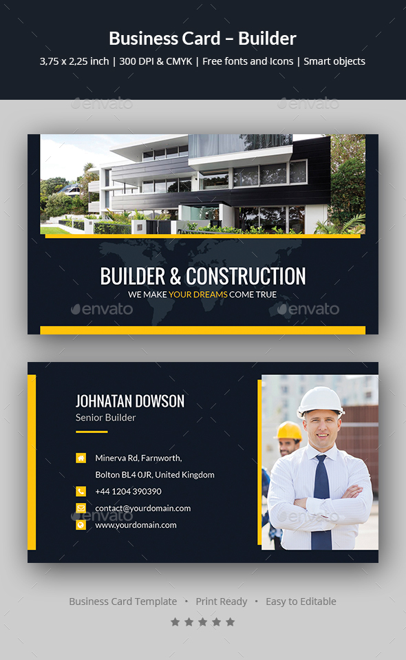 Business Card – Builder - Corporate Business Cards