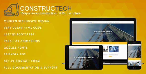 Download Constructech - Responsive Construction HTML Template
