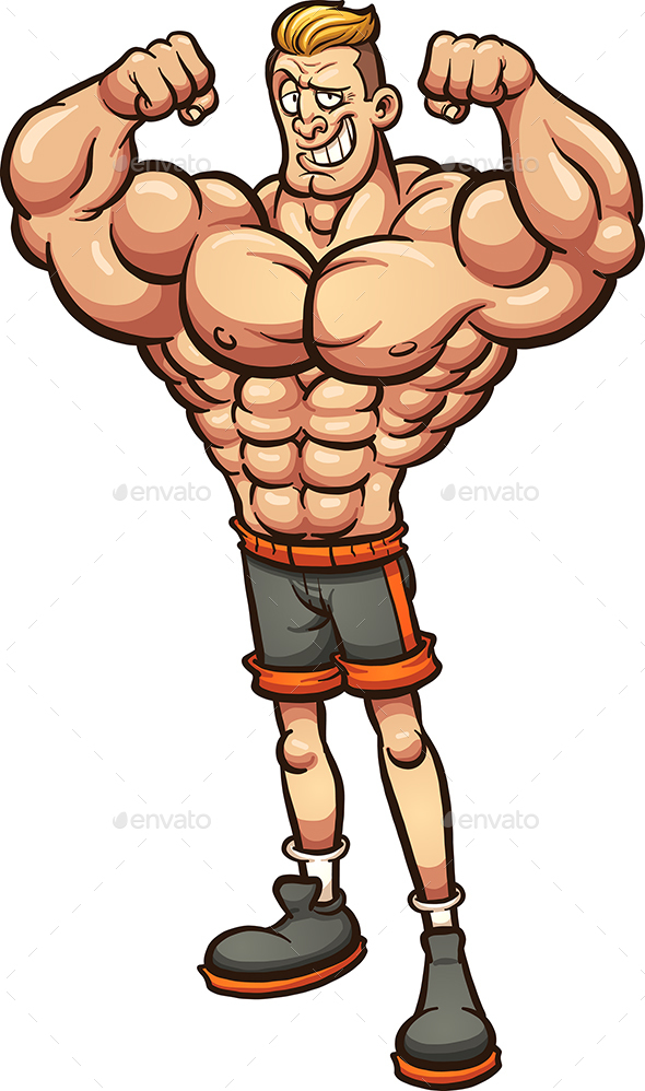 Strong Man with Skinny Legs - People Characters